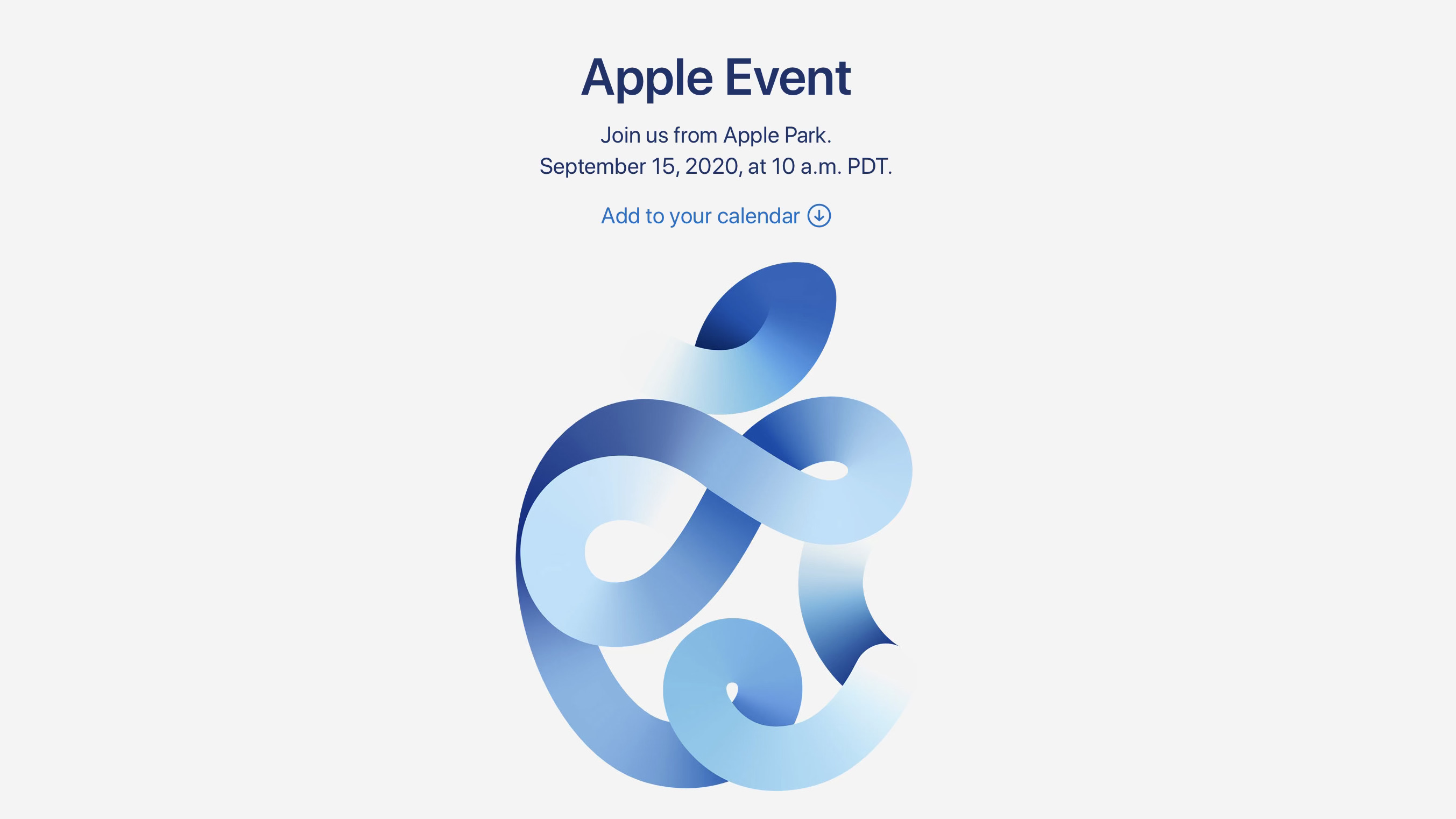 Apple Officially Announces Apple Watch And Ipad Virtual Event For September 15 9to5mac