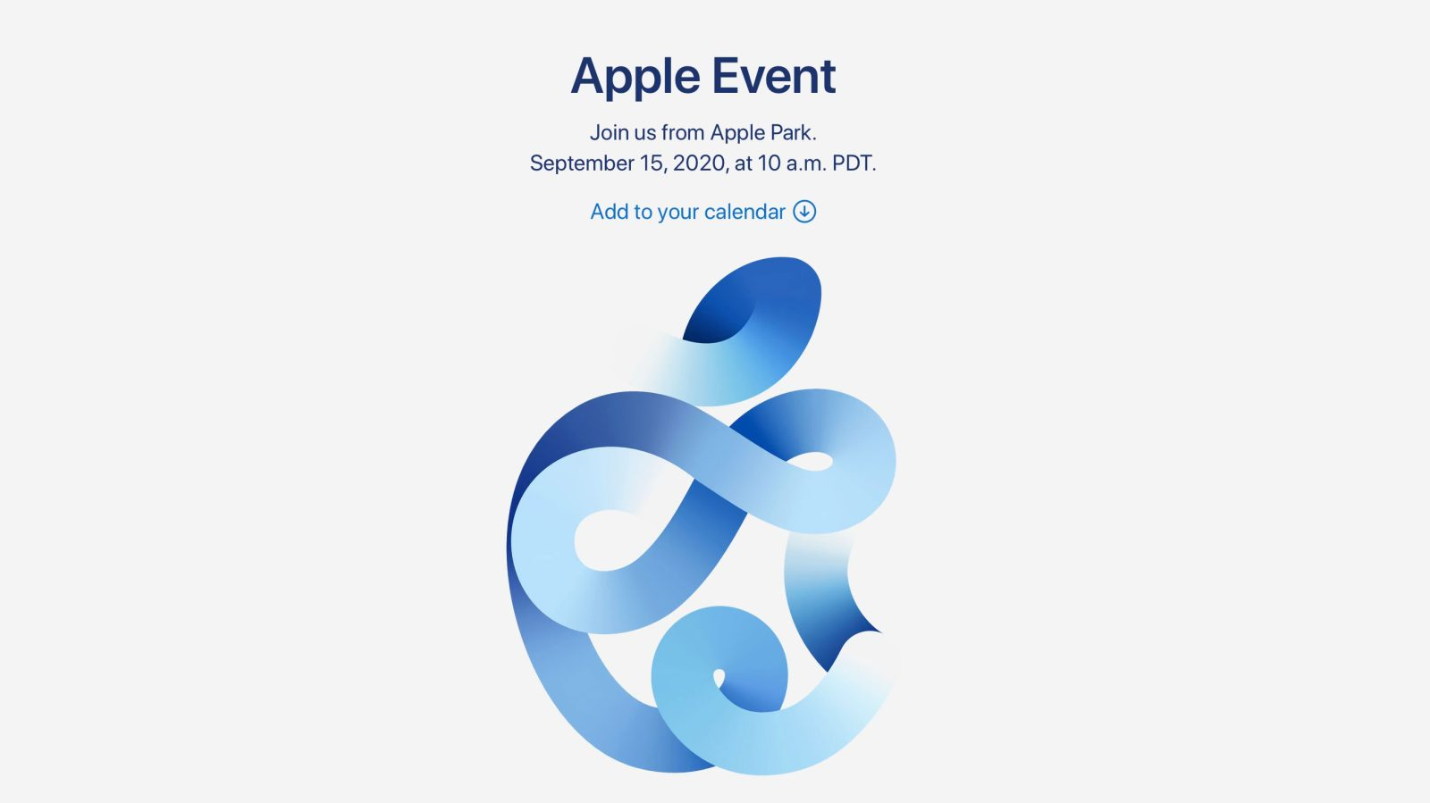 Apple officially announces Apple Watch and iPad virtual event for September 15