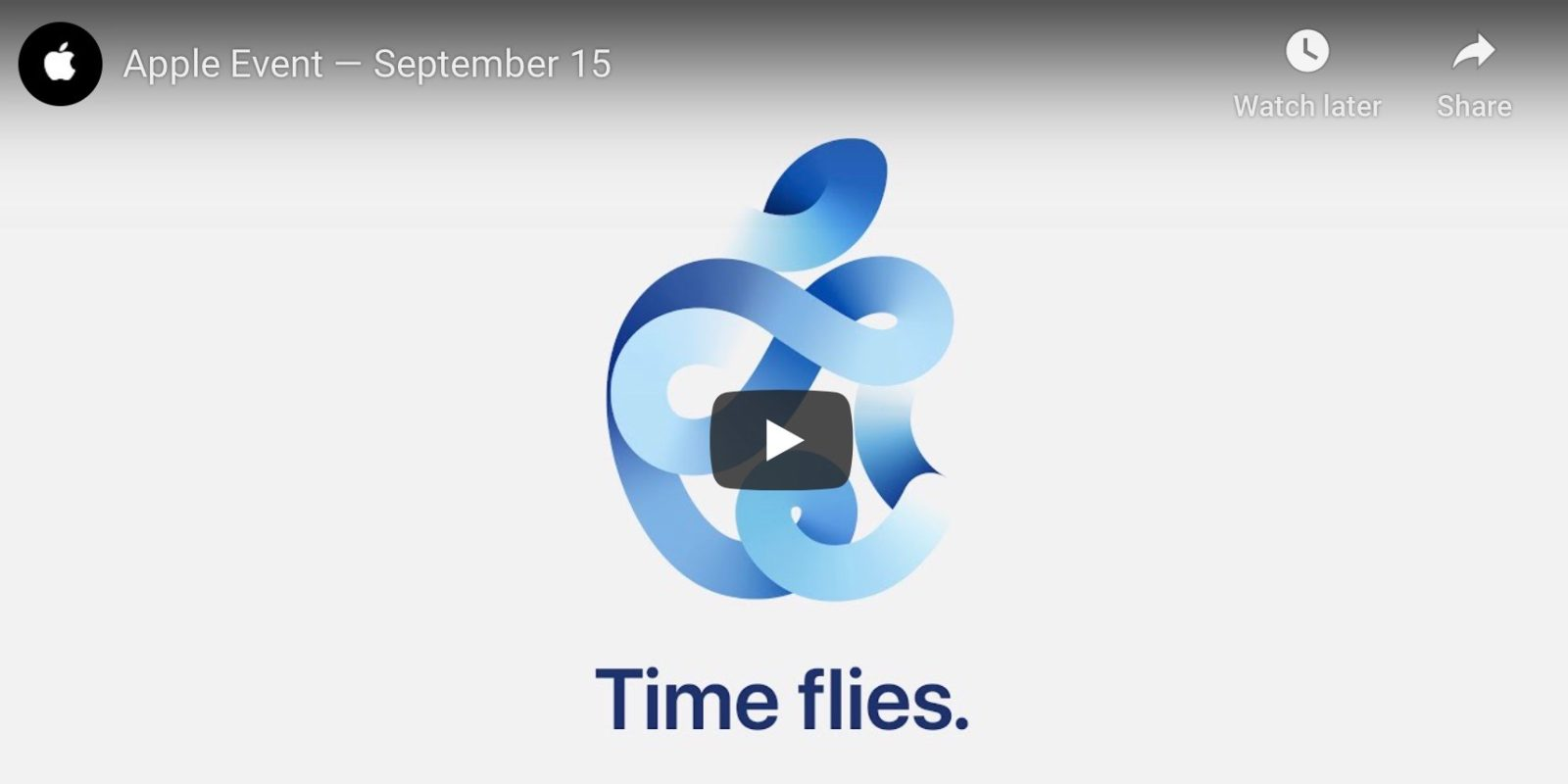How to watch Apple's 'Time Flies' September event live stream on YouTube