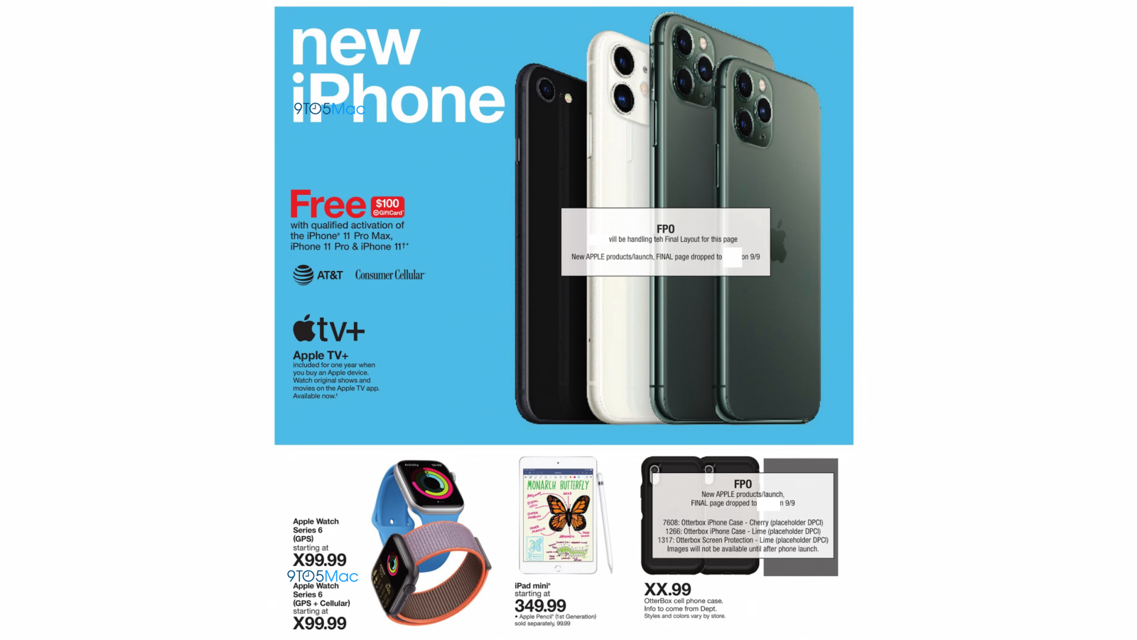 Target ad placeholders reference upcoming 'new' iPhone and Apple Watch  Series 6 - 9to5Mac
