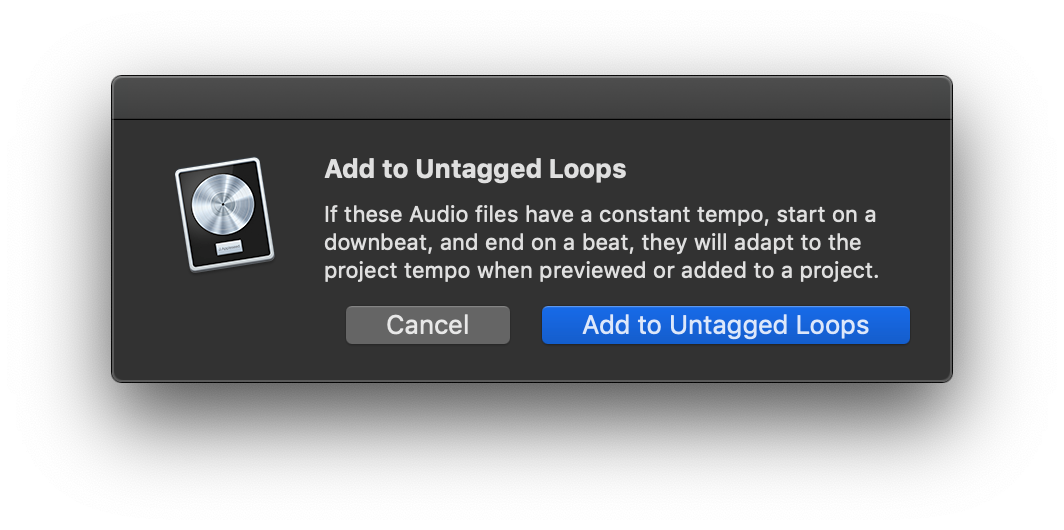 Untagged Loops, Creating Apple Loops