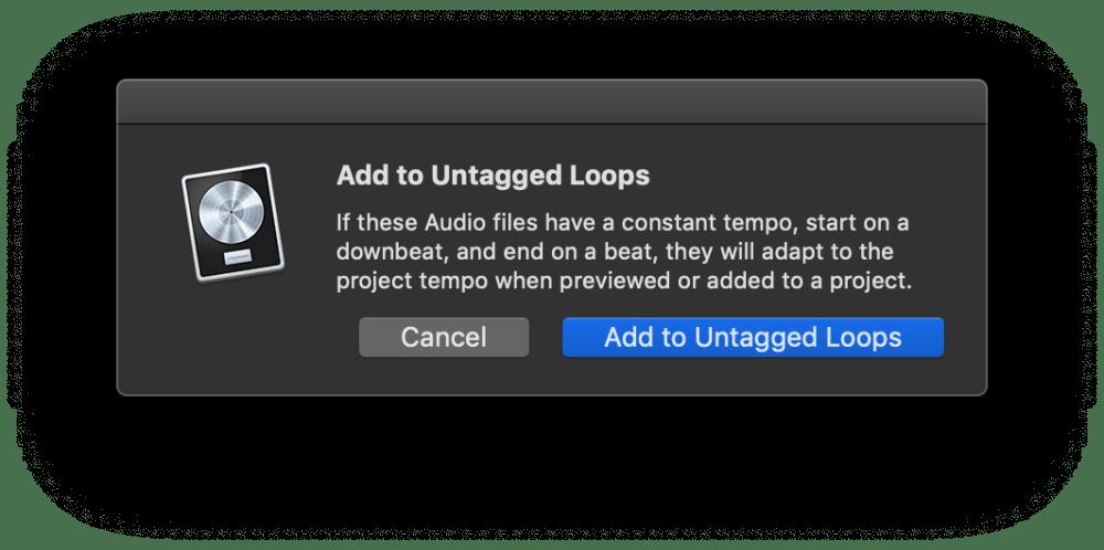 Untagged Loops, Creating Apple Loops