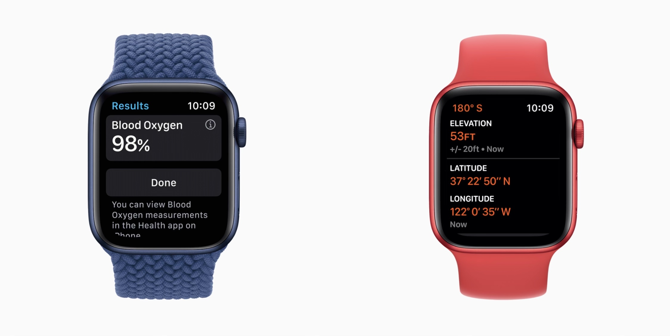 Apple watch series 6 red and blue