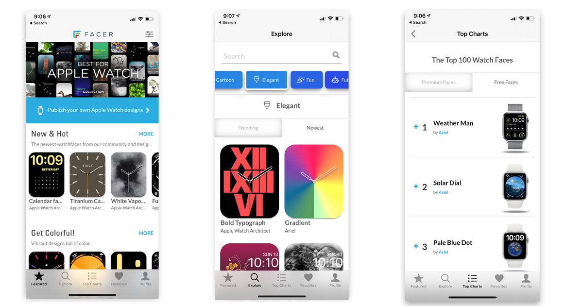 'Facer' offers an App Store-style experience for discovering customized Apple Watch faces
