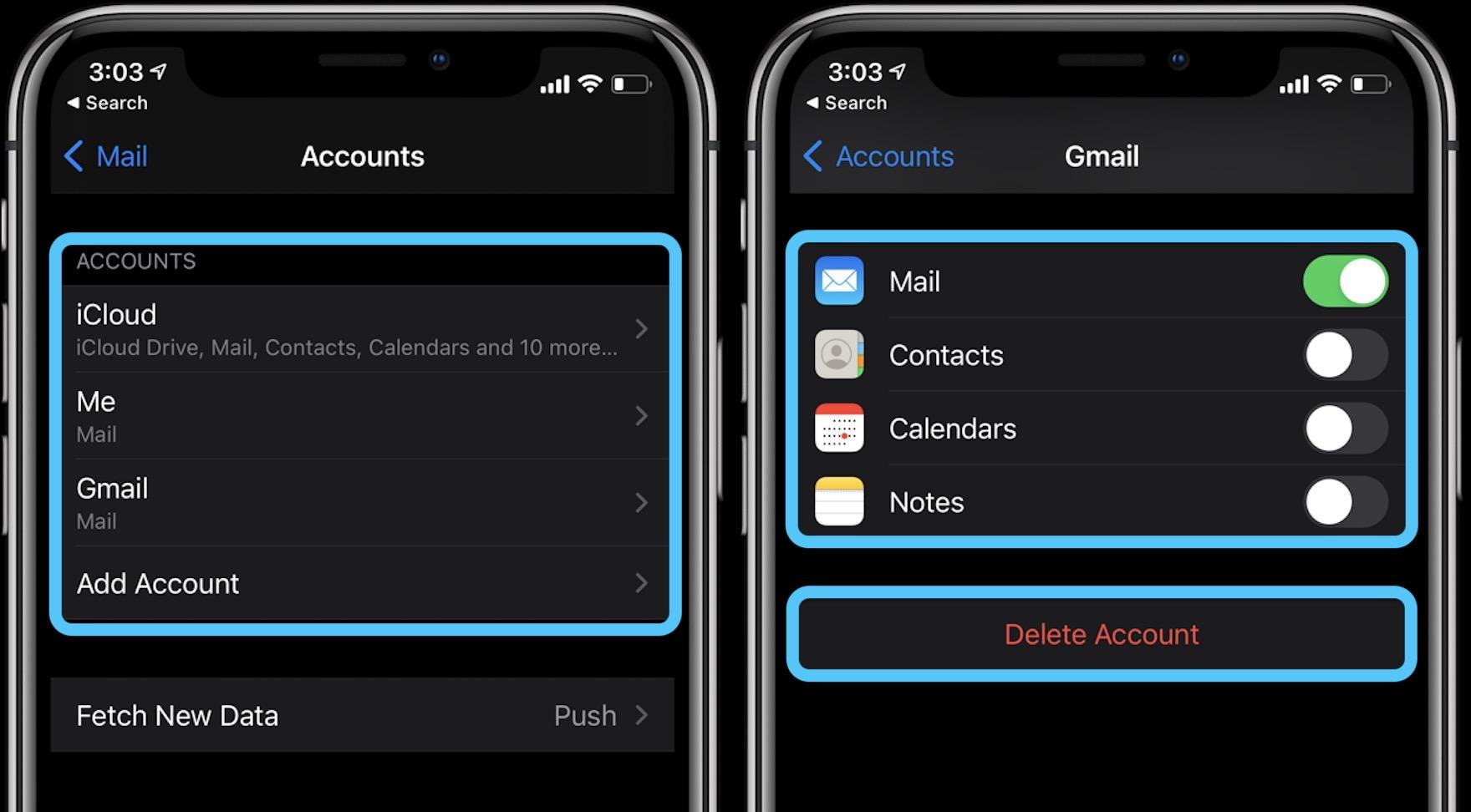 How to add edit iPhone accounts in iOS 14 walkthrough 2