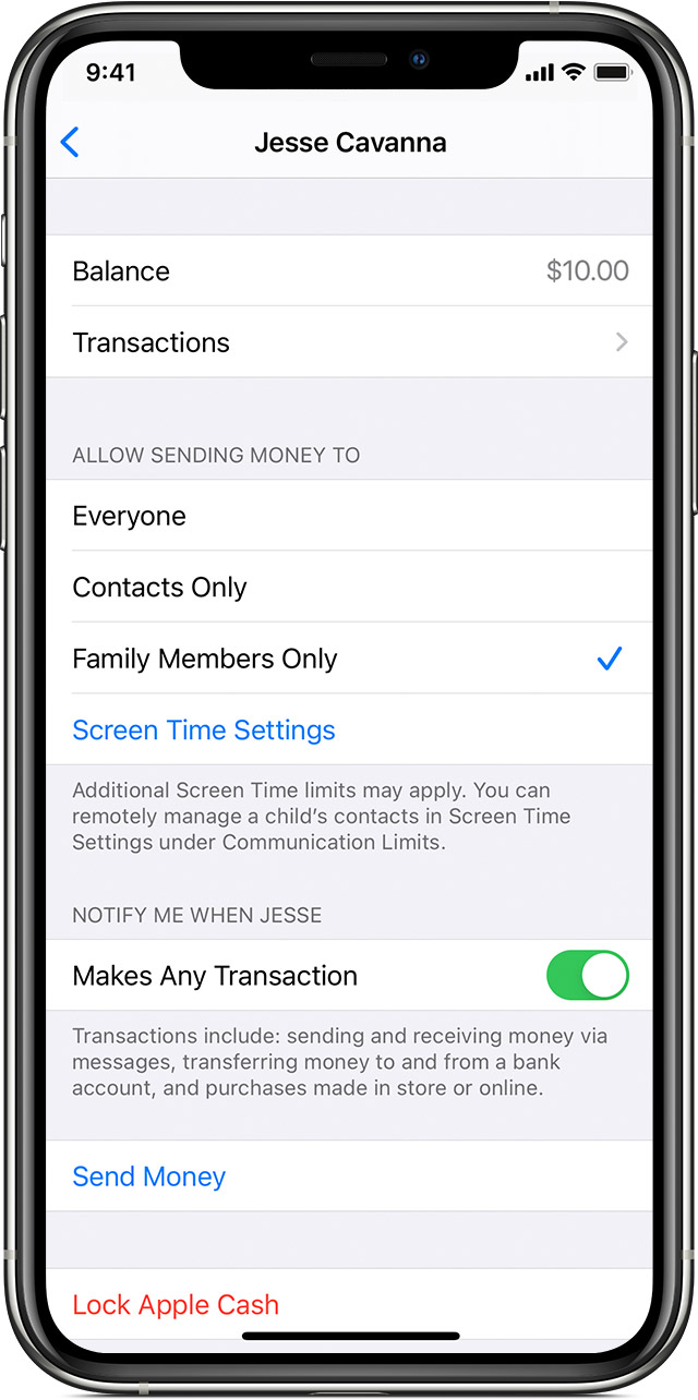 How to set up Apple Cash Family walkthrough 2