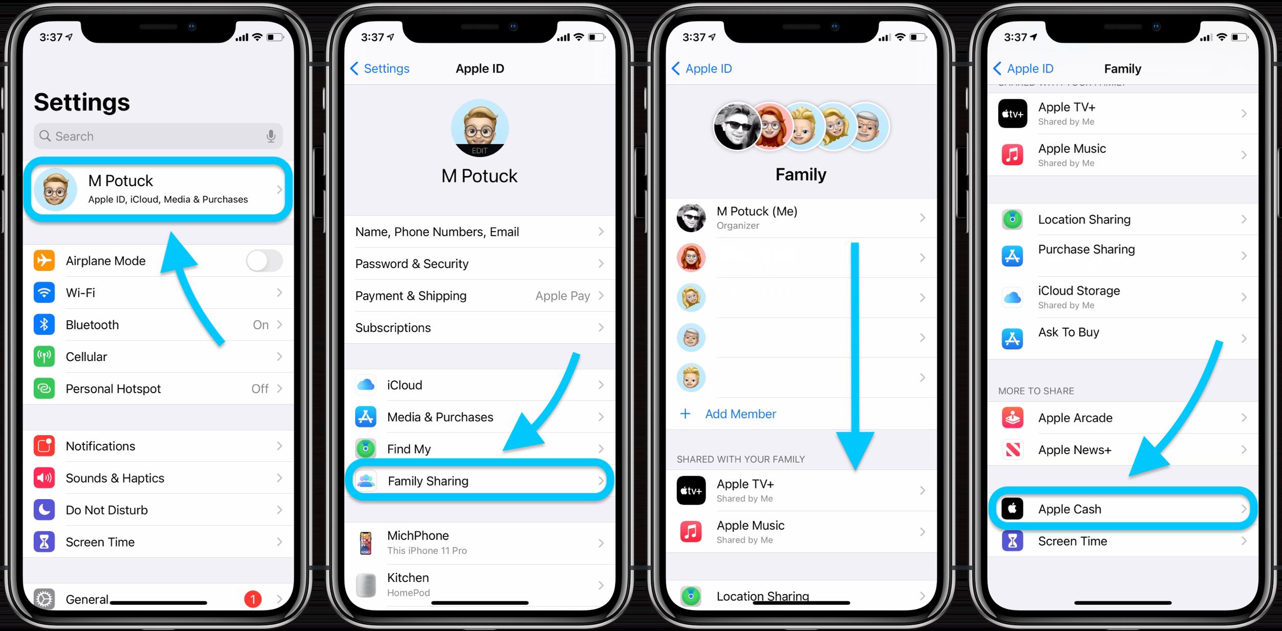 How to setup up Apple Cash Family walkthrough 1