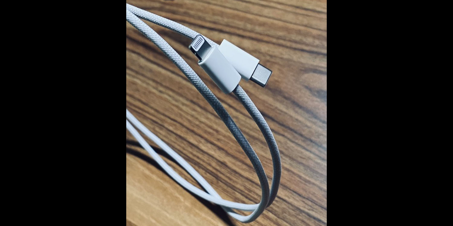 photo of New claimed photos of iPhone 12 braided cable image