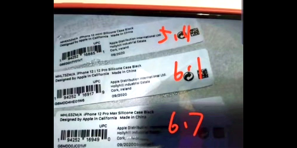 photo of Claimed official Apple case stickers provide more evidence of iPhone 12 names image