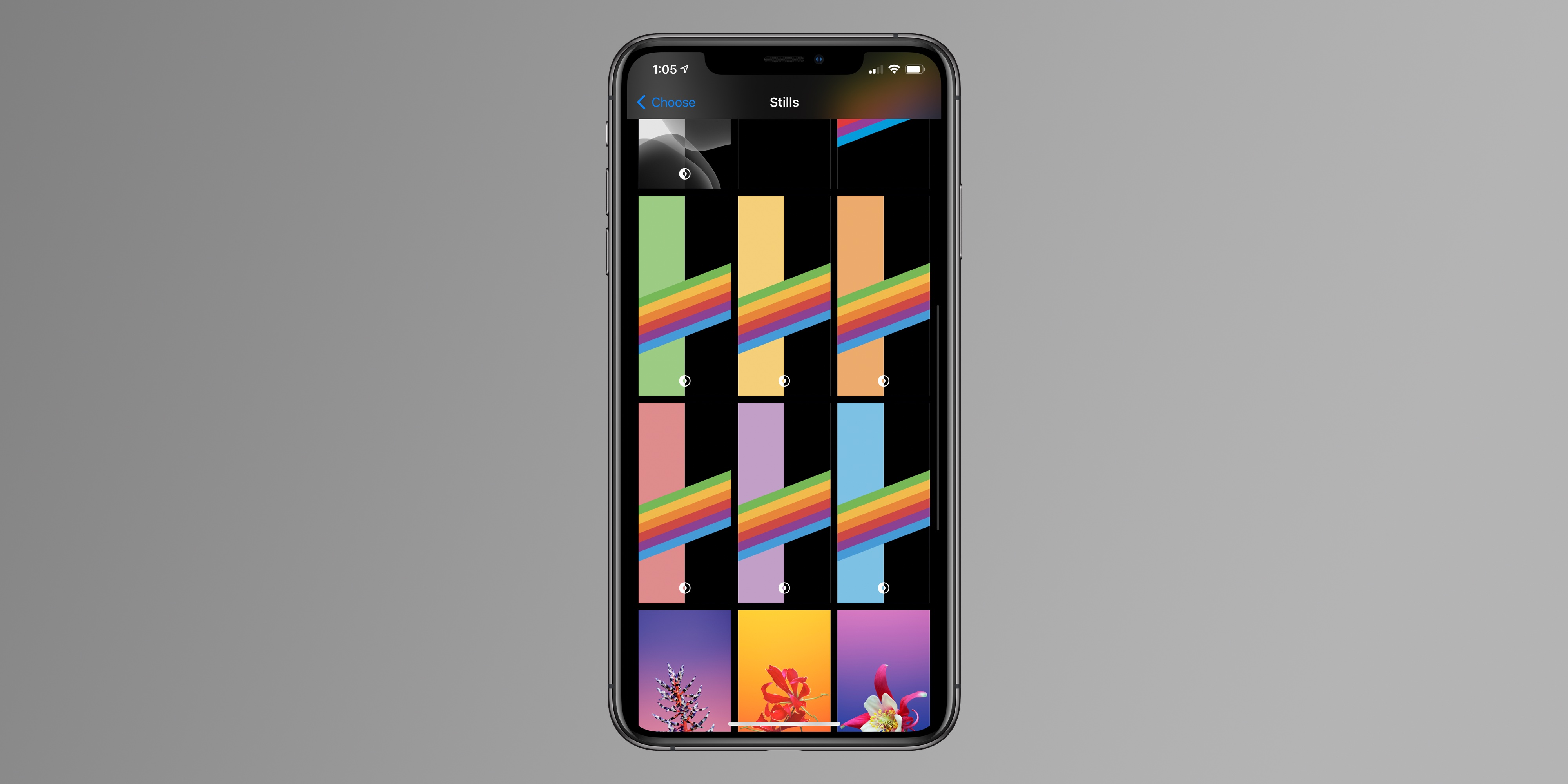 Ios 14 Beta 7 Adds New Dark Mode Wallpaper Option For Rainbow Stripe Backgrounds 9to5mac