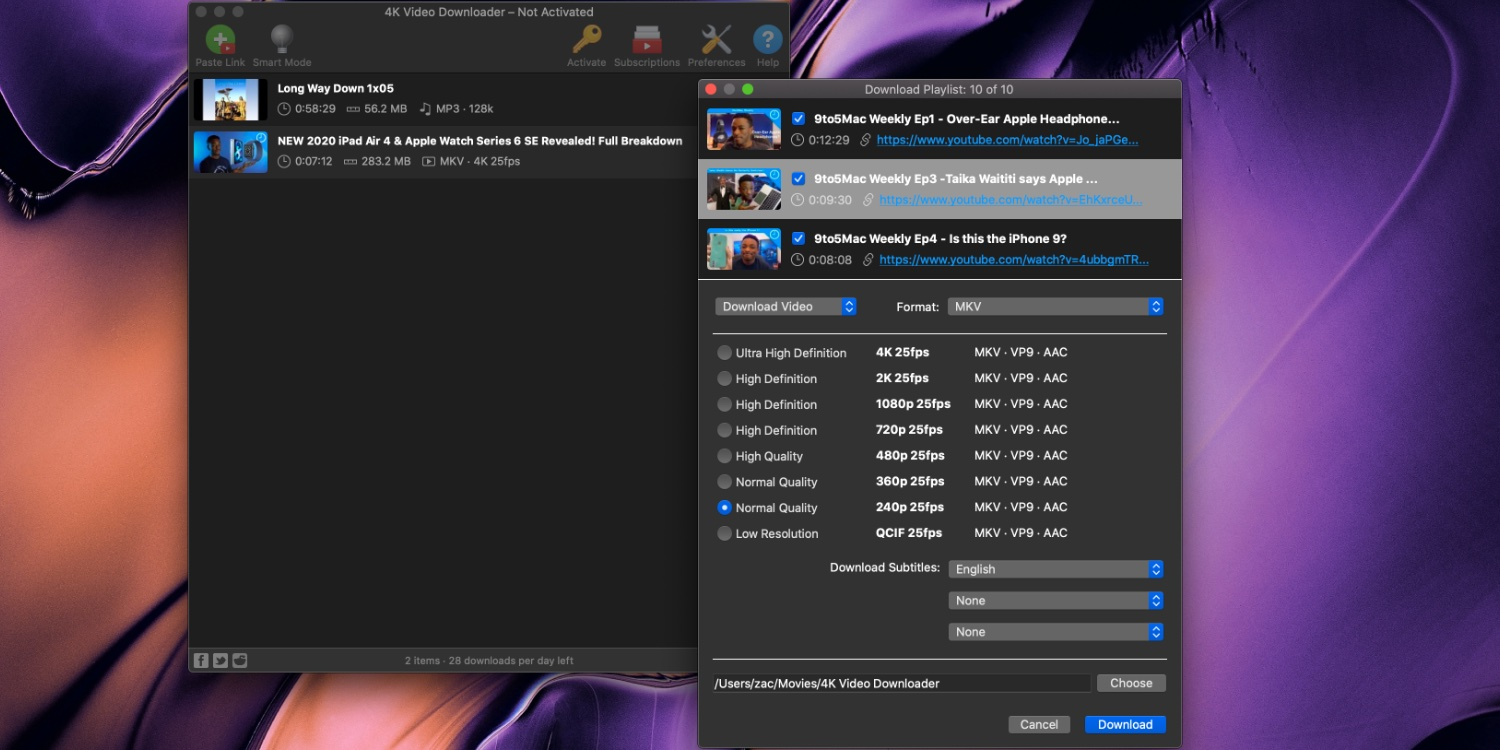 4K Video Downloader for Mac lets you quickly download YouTube playlists and more