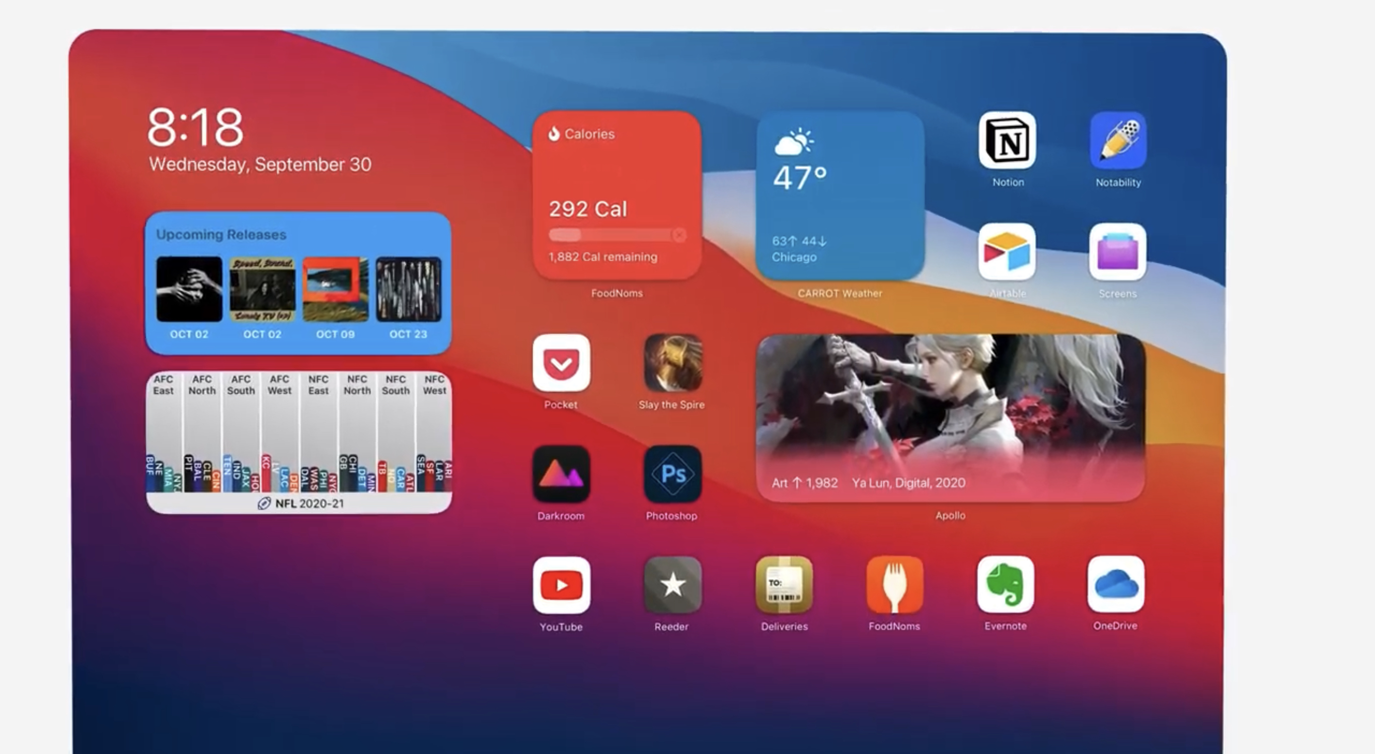 Concept imagines iOS 14 home screen widgets on iPad [Video] – 9to5Mac