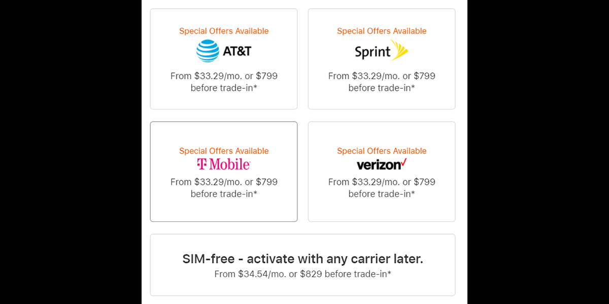 photo of T-Mobile and Sprint match AT&T and Verizon with $799 iPhone 12 pricing image