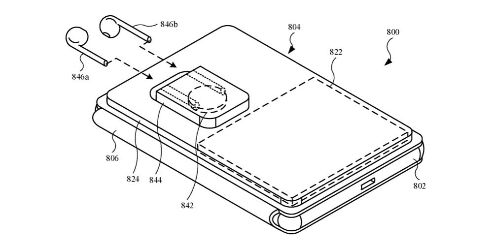 photo of Apple patent shows a MagSafe battery case that can charge an iPhone and AirPods image