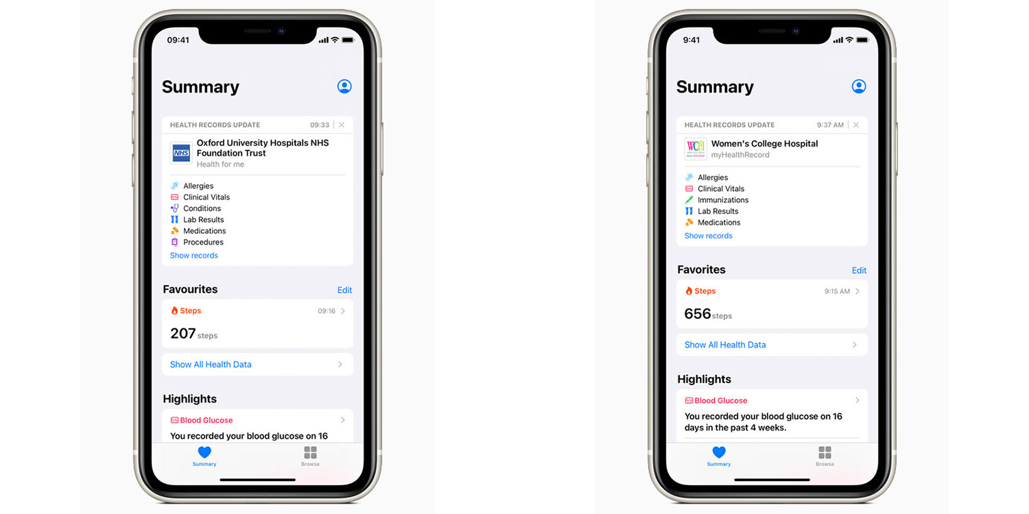 Health Records on iPhone now available in UK and Canada