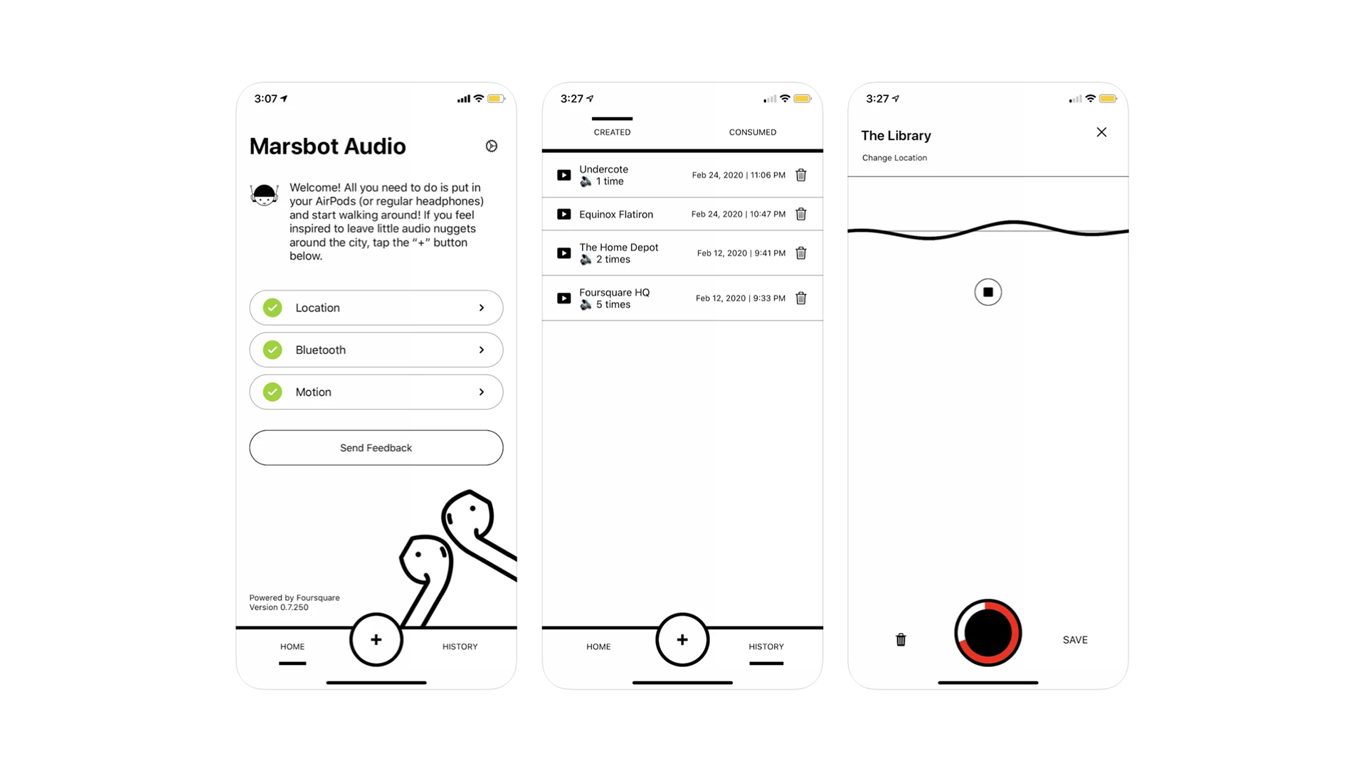 photo of FourSquare launches Marsbot for AirPods, an audio guide app for interesting places image