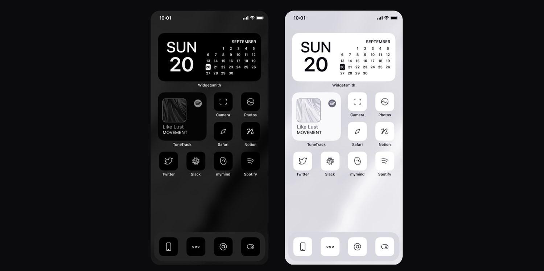 photo of Monochrome iOS 14 icon set nets designer six figures in six days image