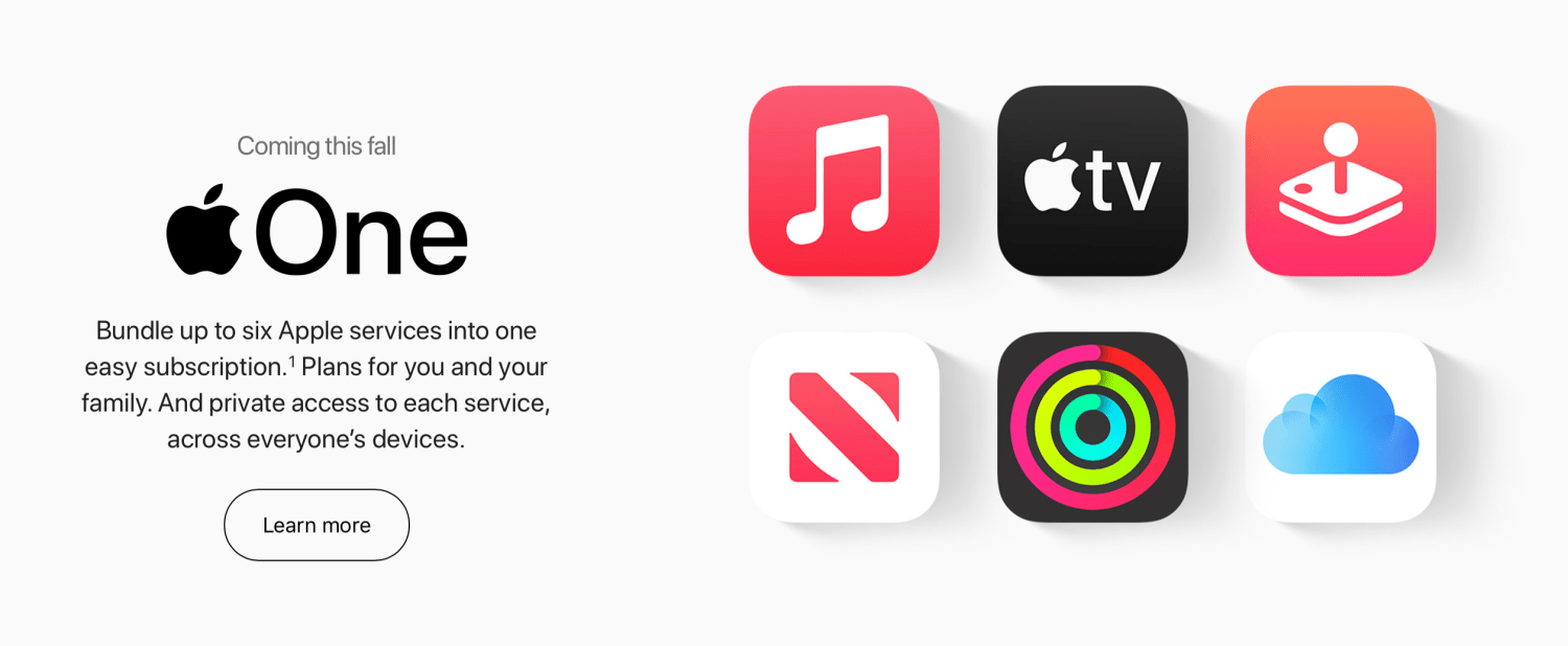 photo of Apple One services bundle launches tomorrow image