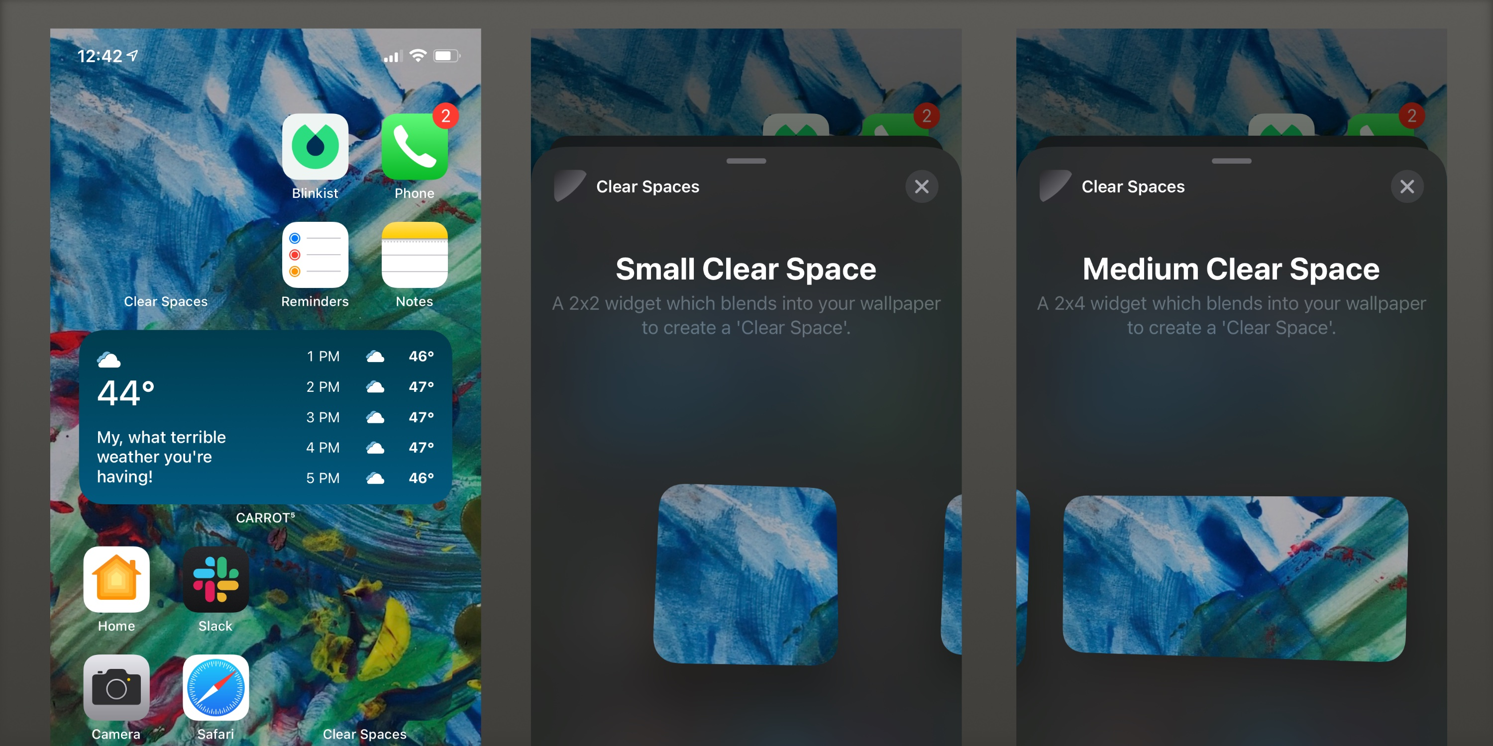 'Clear Spaces' app brings transparent widgets to your iOS 14 home screen