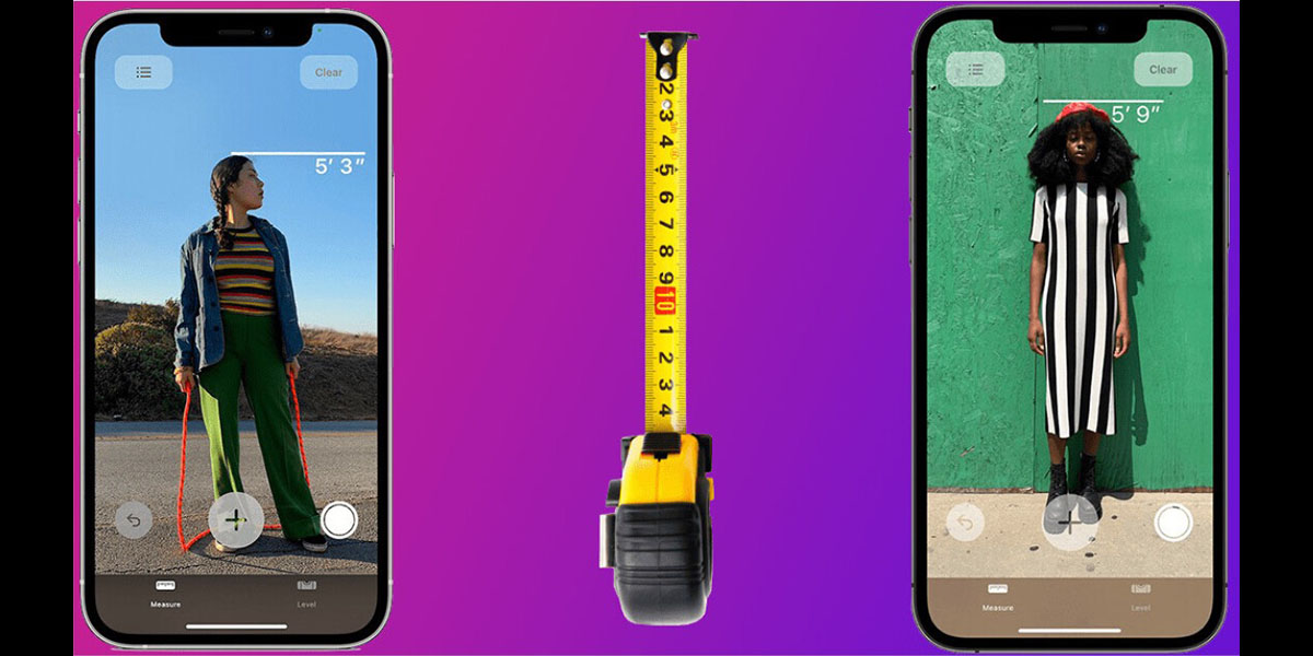 photo of The iPhone 12 Pro's LiDAR scanner can measure someone's height image