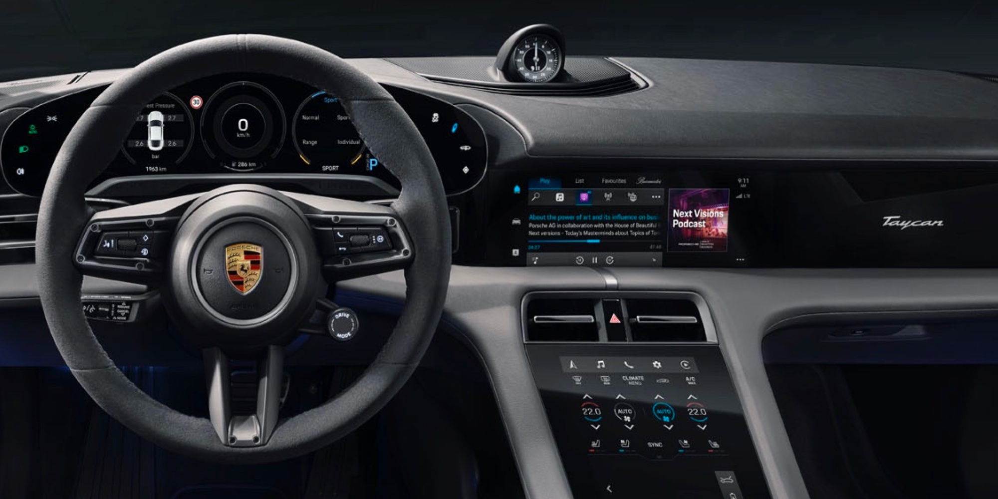 photo of Porsche Taycan EV gains exclusive Apple Podcasts and Apple Music time-synced lyrics integration image