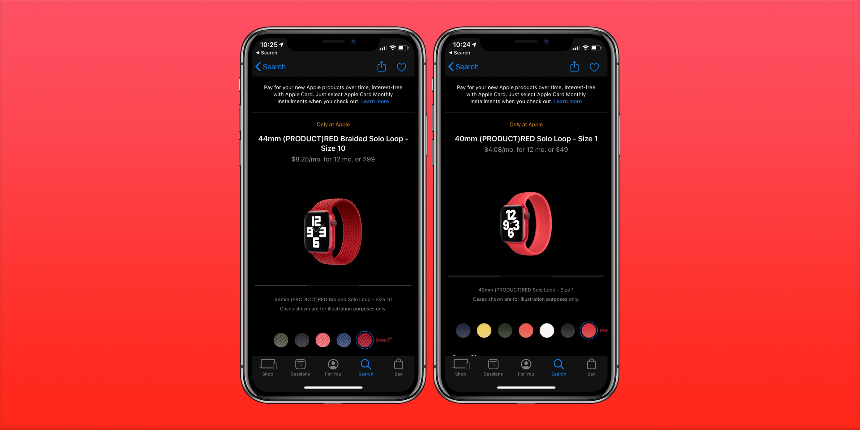 photo of Everything from Apple's September event now available with red Solo Loop and Braided Solo Loop release image