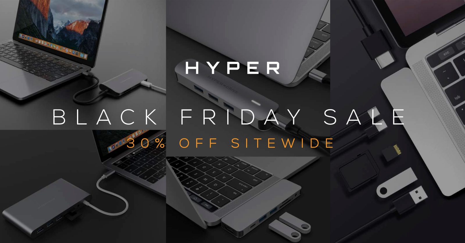 Hyper Black Friday offers 30% off sitewide on USB-C hubs, wireless chargers, battery packs & more
