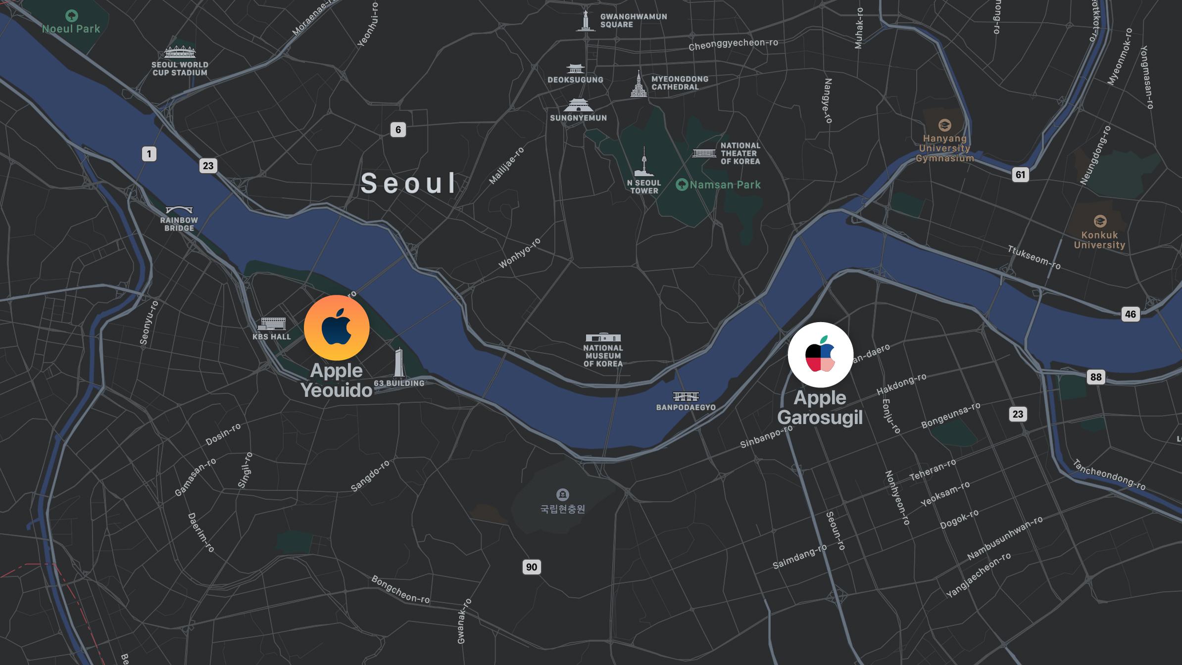 Apple Yeouido location