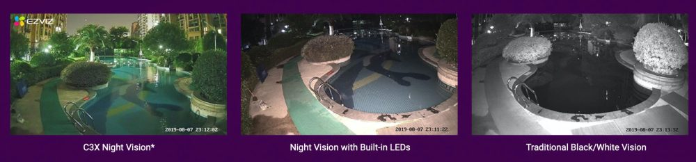 EZVIZ color night vision comparison