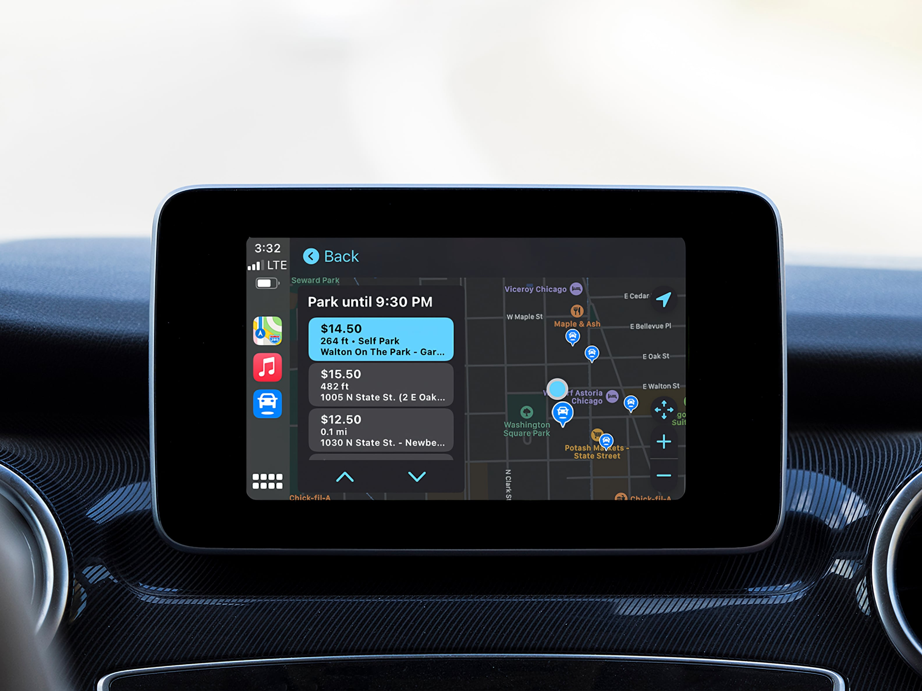 photo of SpotHero digital parking service announces integration with Apple CarPlay image