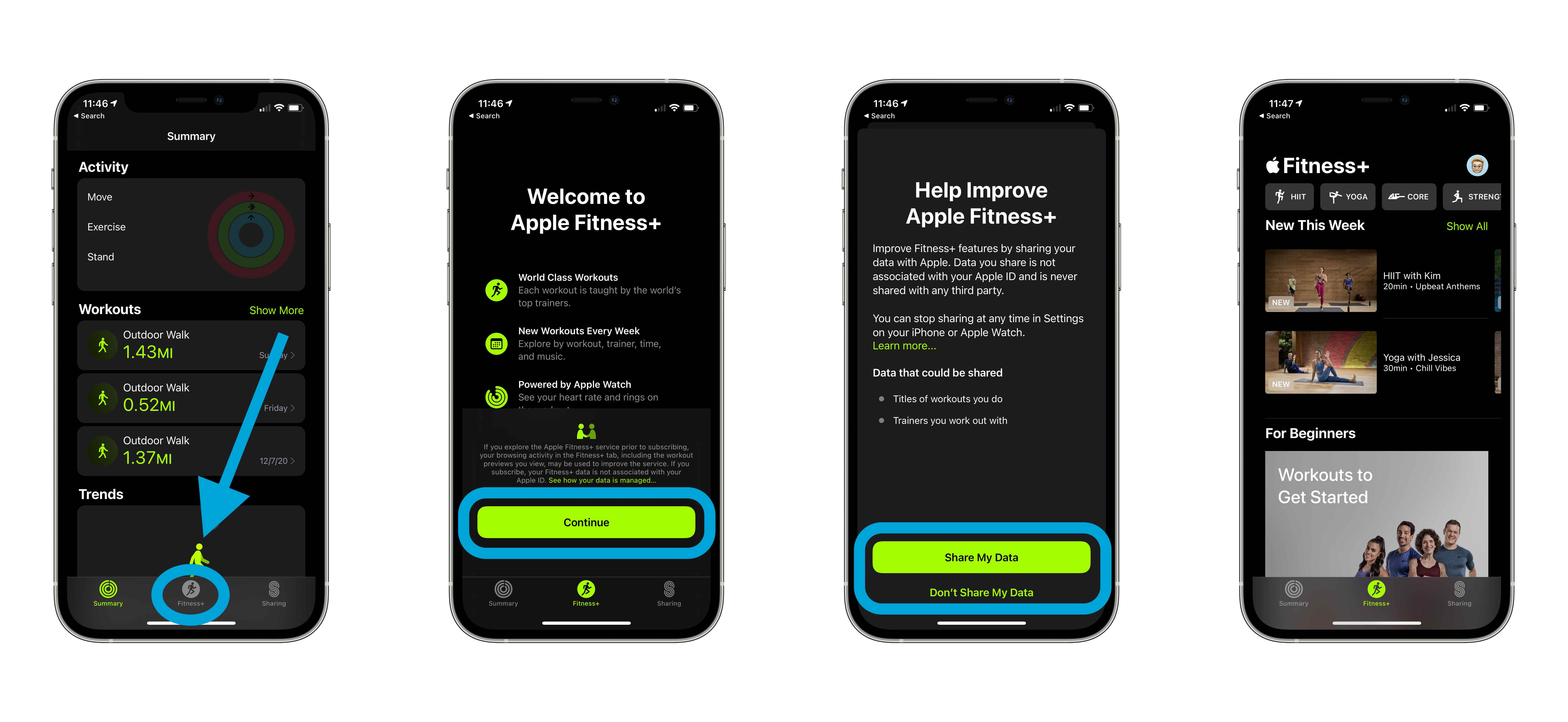 How to use Apple Fitness+ on iPhone signing up, more