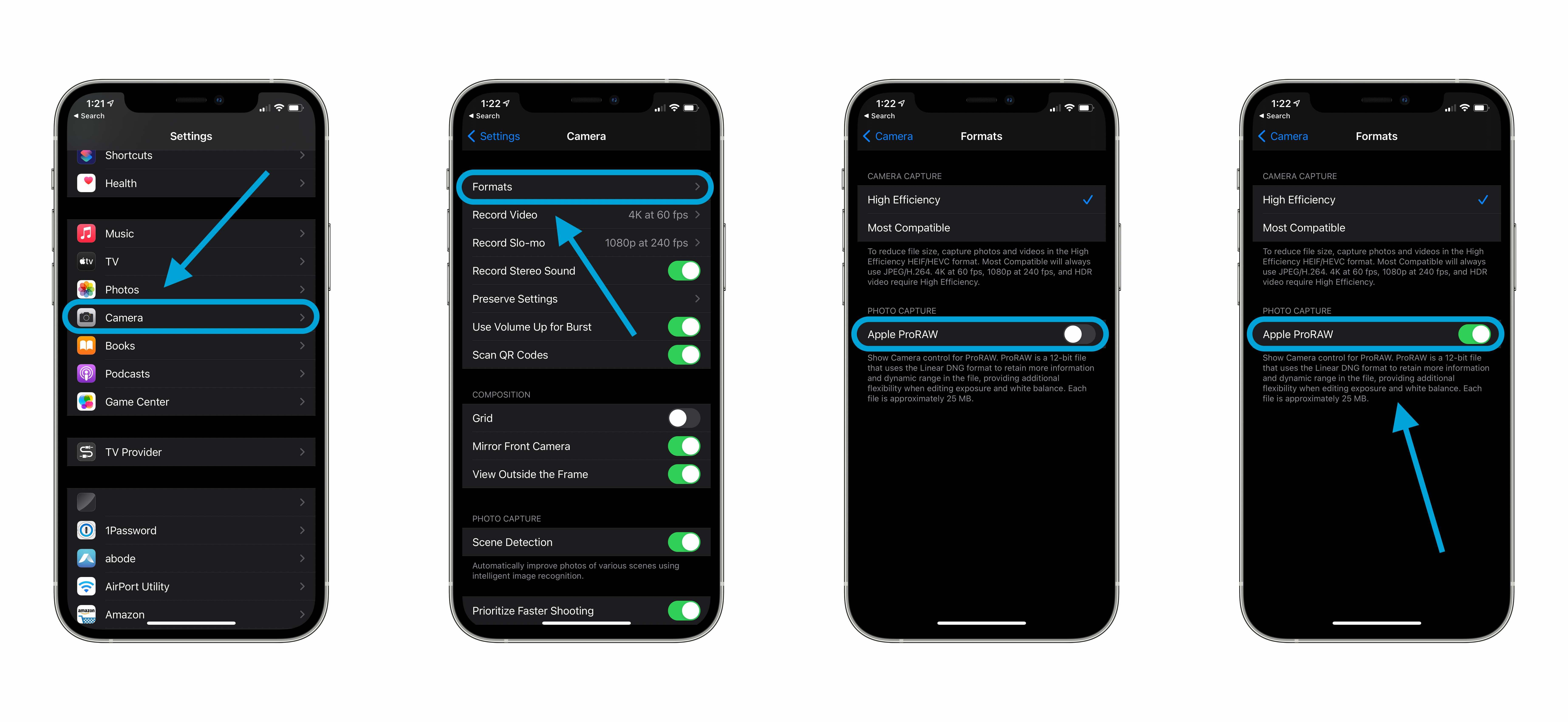 Jak používat návod ProRAW pro iPhone 12 Pro a Pro max