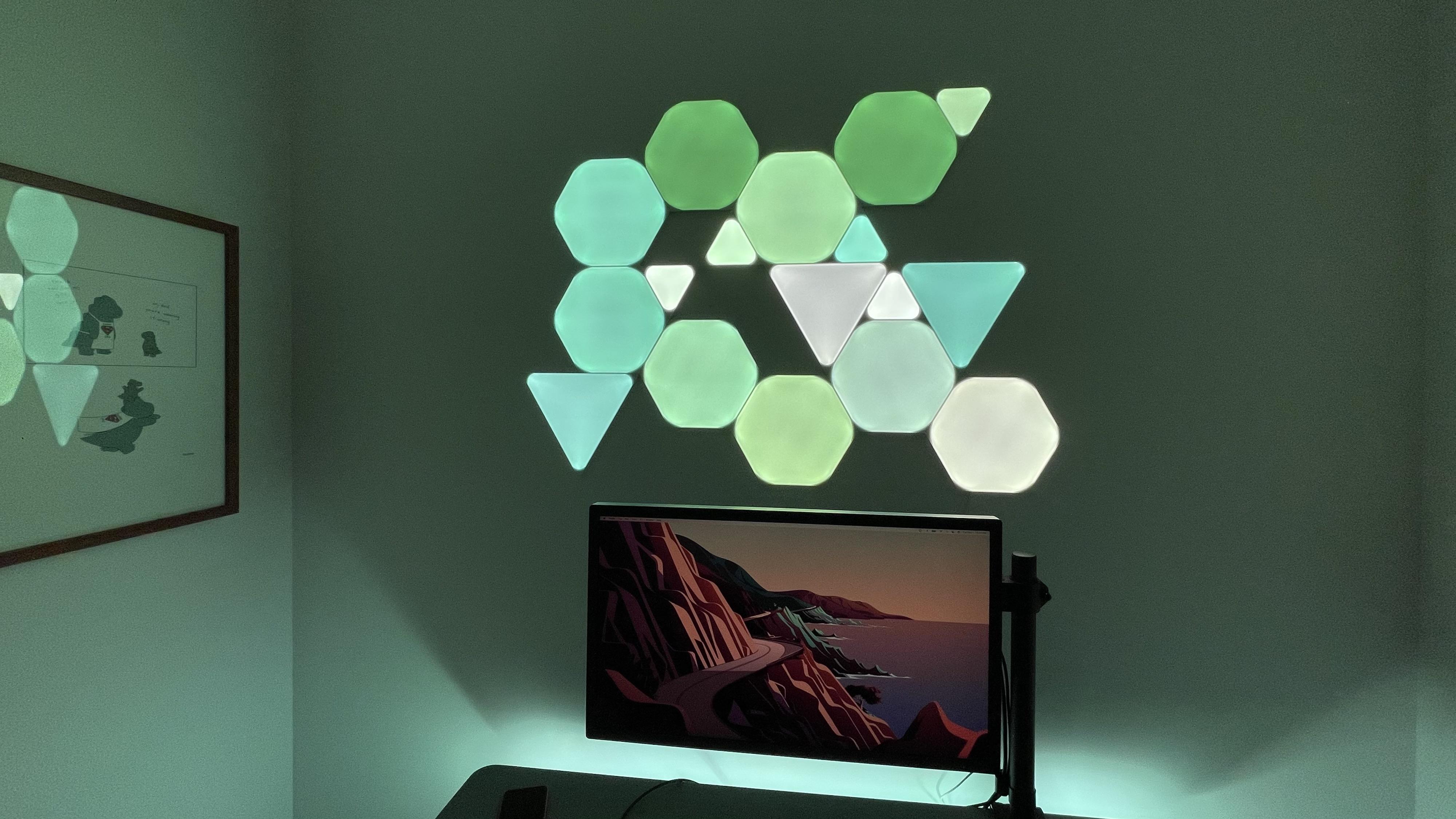 Review Nanoleaf Shapes HomeKit light panels - green