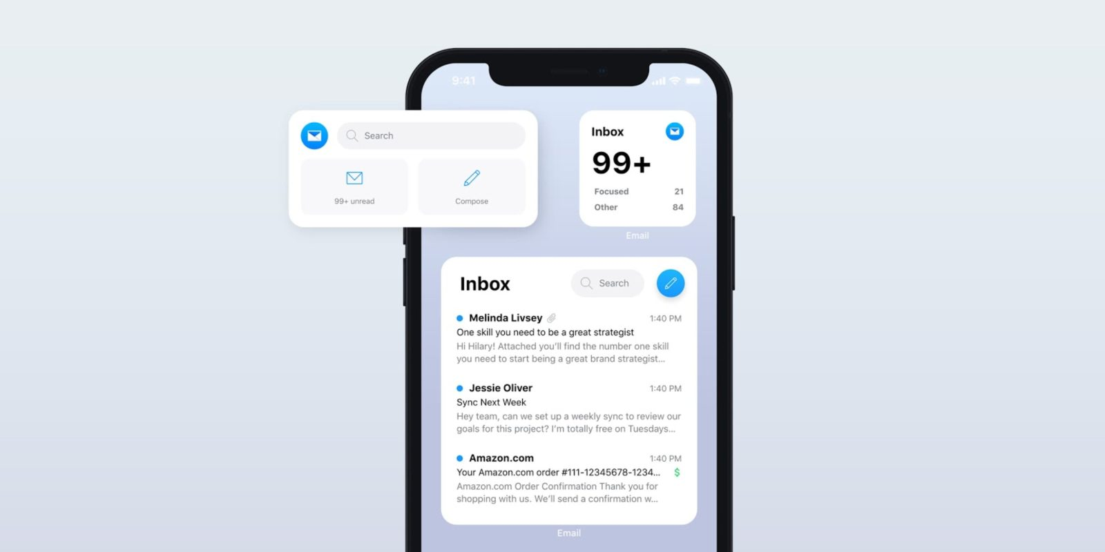 Edison Mail adds six new iOS 14 widgets to fill the gap left by Apple Mail