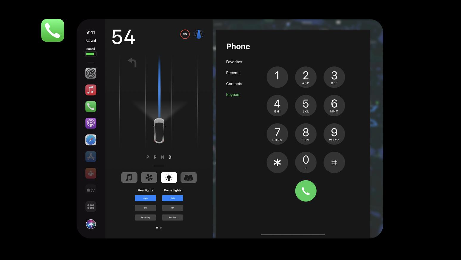 Apple Car Concept - Phone