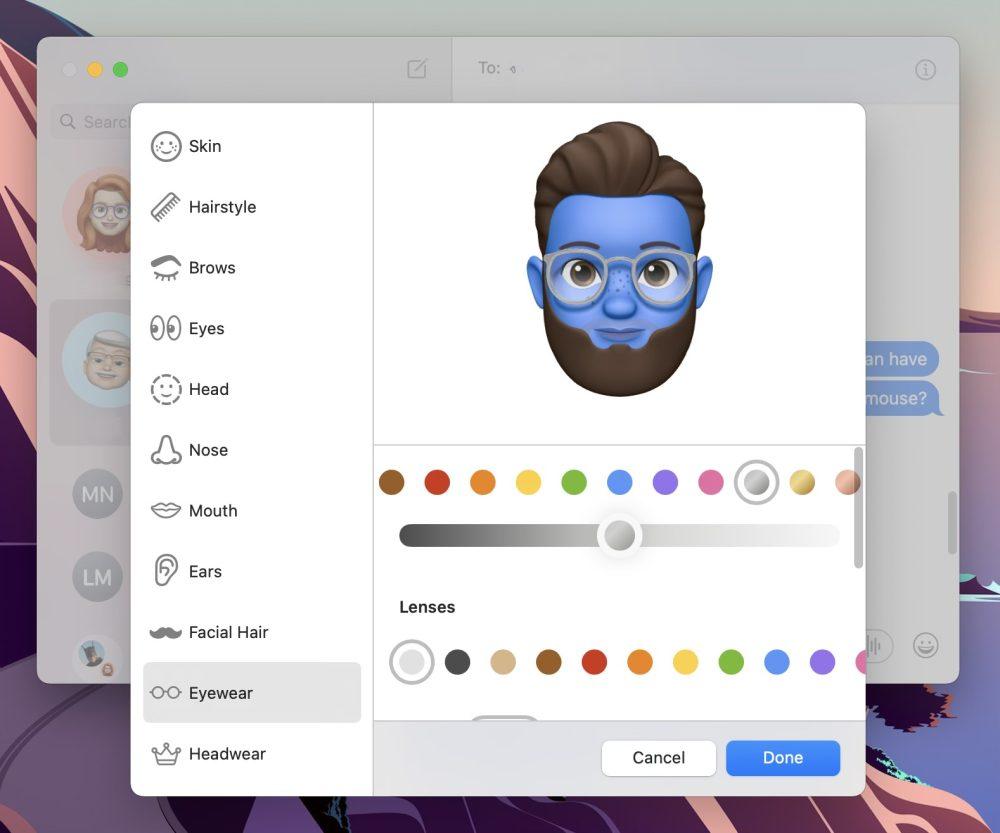 How to make Memoji on Mac with Big Sur walkthrough 5