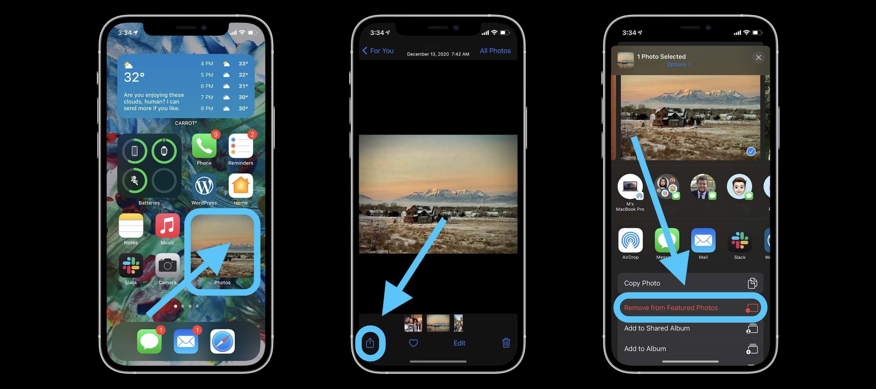 How to hide Photos widget pics walkthrough 2