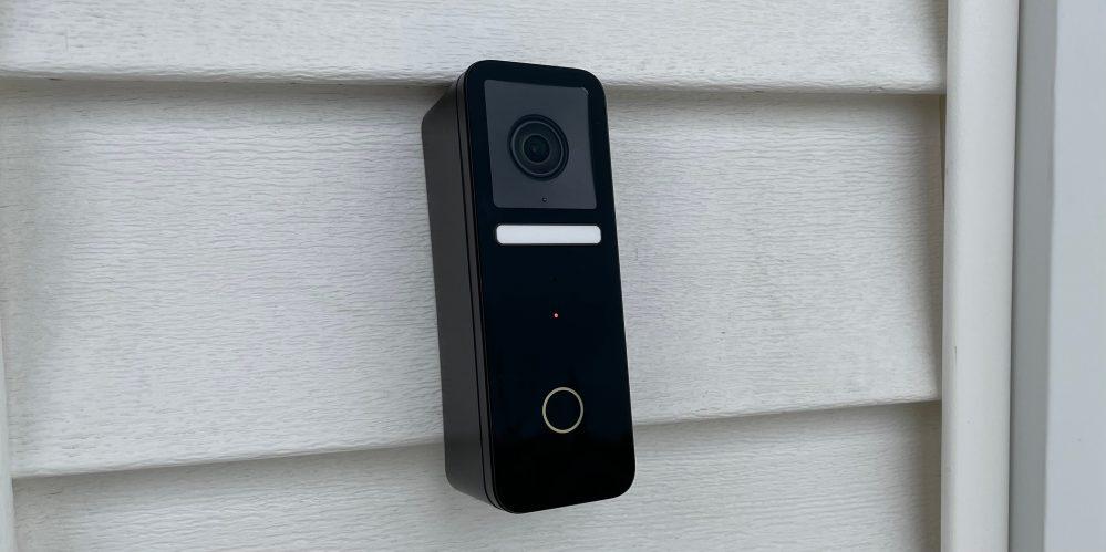 Logitech HomeKit doorbell close up