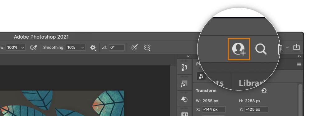 Adobe Illustrator and Adobe Photoshop document collaboration
