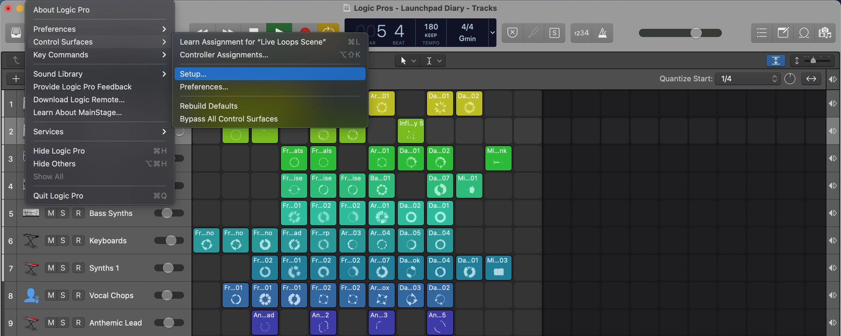 Live Loops Launchpad Diary installation