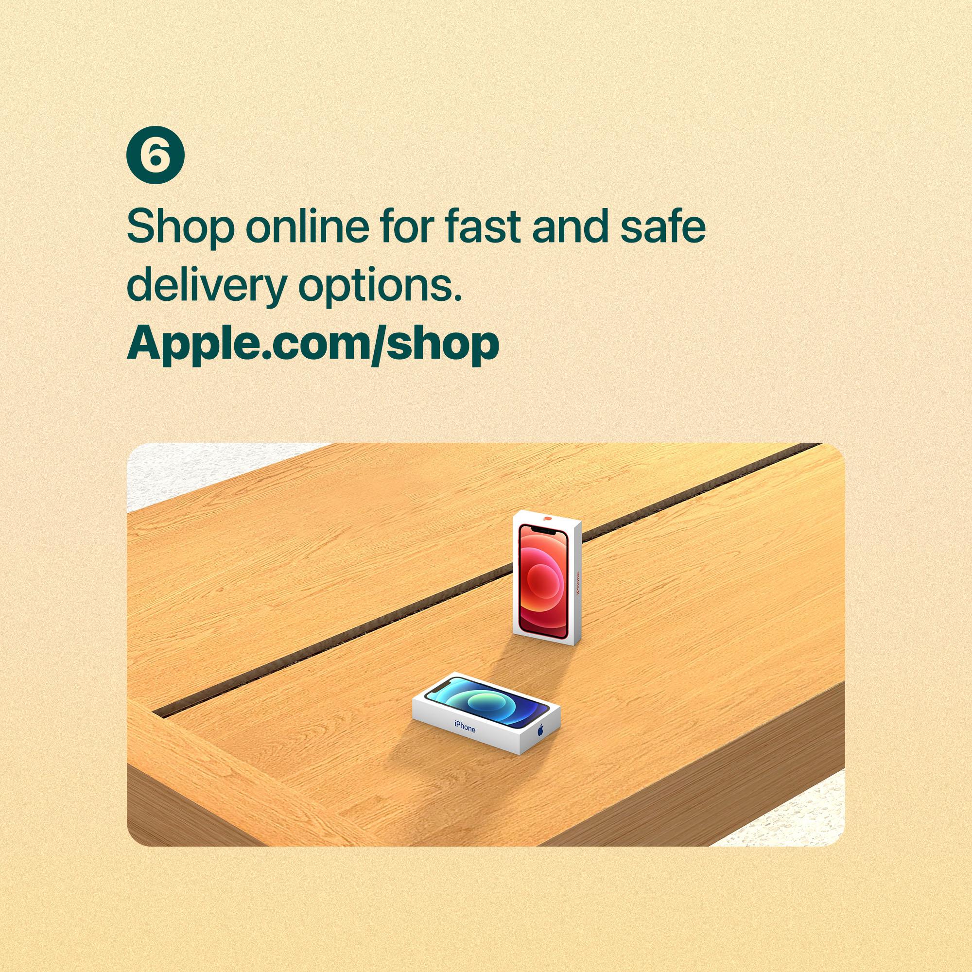 Shop online for fast and safe delivery options. Apple.com/shop.