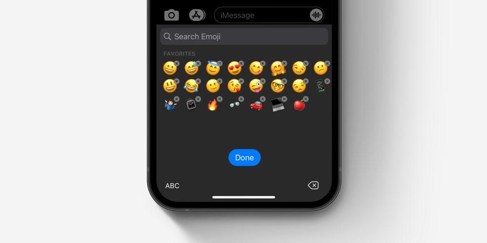 iOS emoji keyboard how to delete and rearrange emoji concept