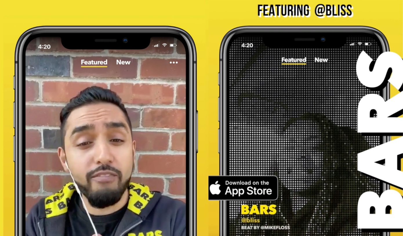 'BARS' is a new Facebook app for creating and sharing raps