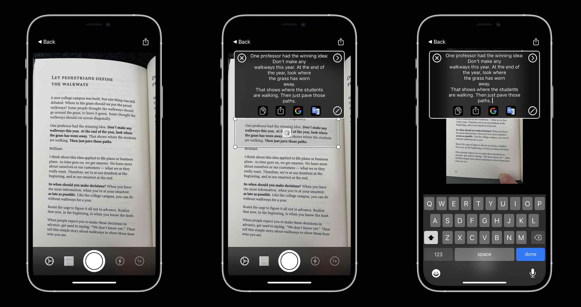 How to convert iPhone images to text - LiveScan app