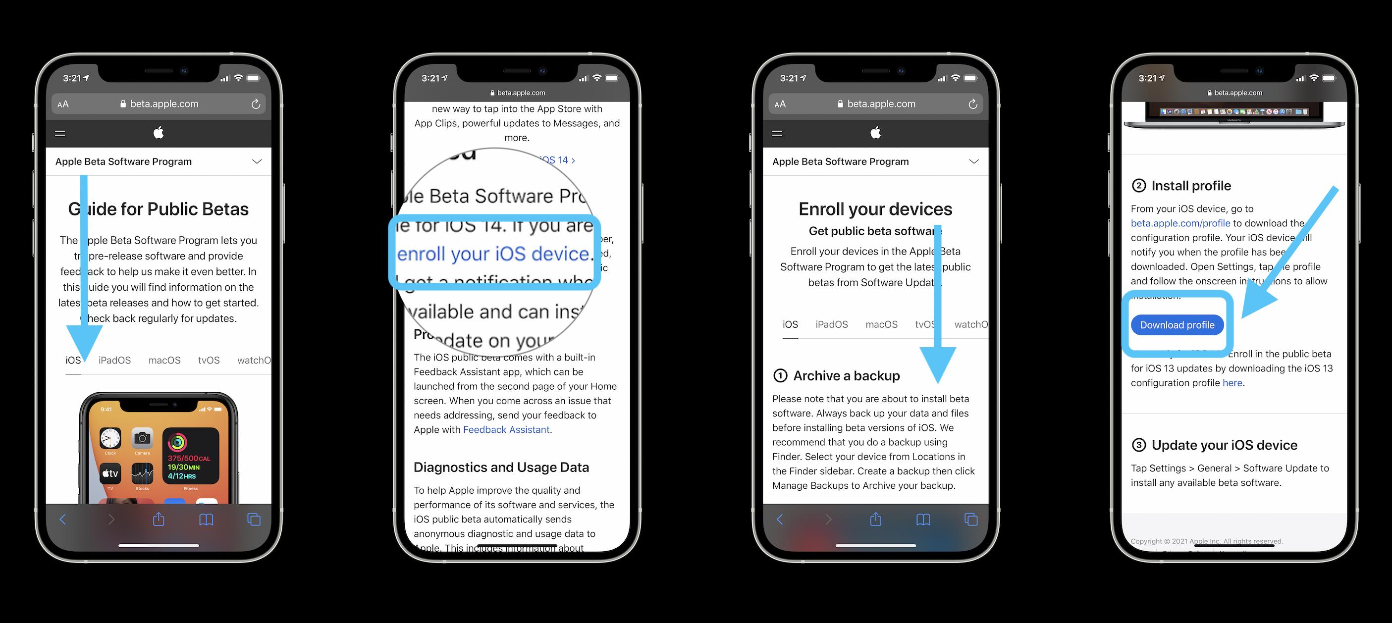 Как установить бета-версию iOS 14.5 и получить Разблокировка Apple Watch iPhone