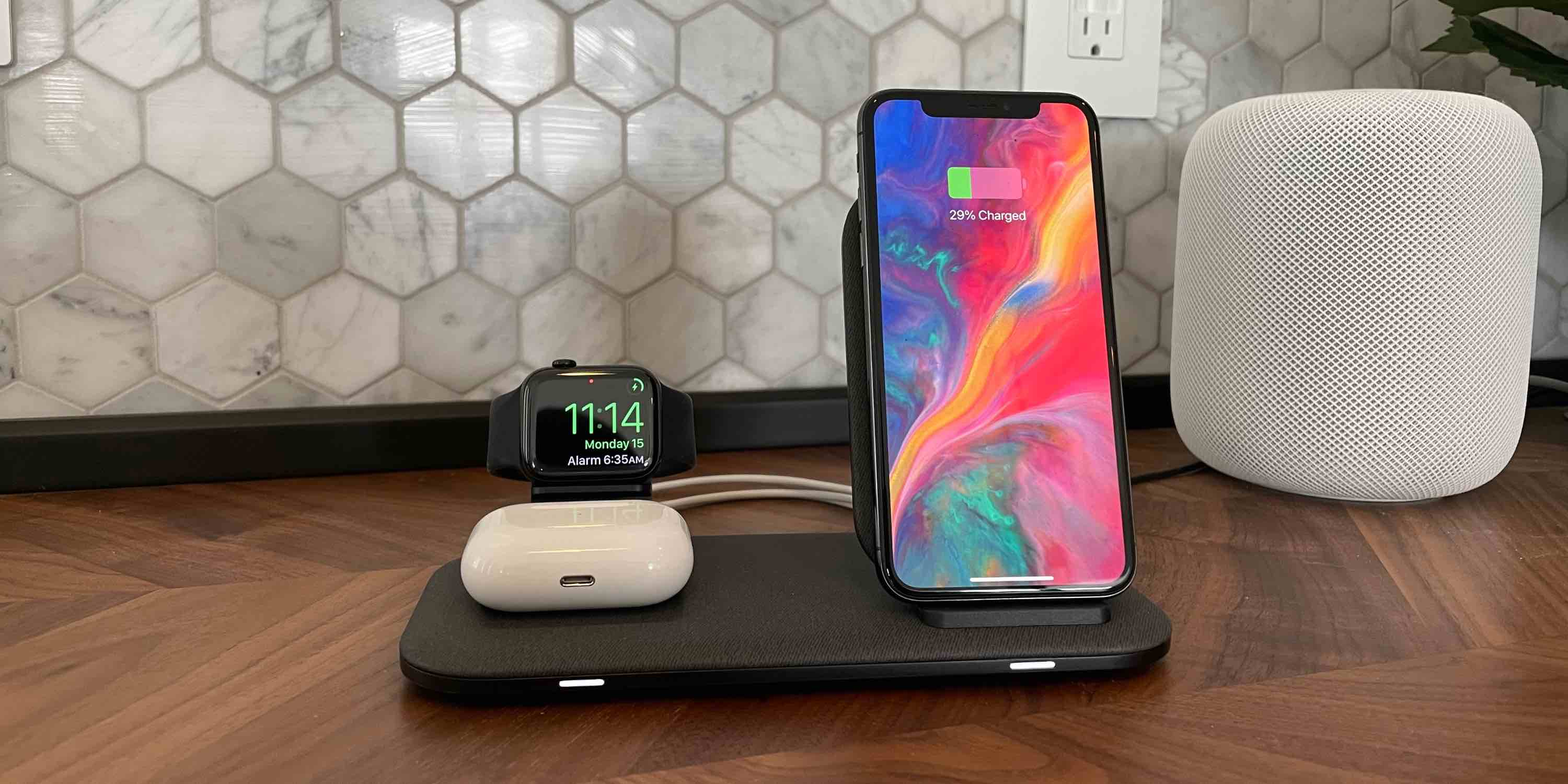 Revise Mophie Charging Station + para iPhone, Apple Watch, AirPods y más