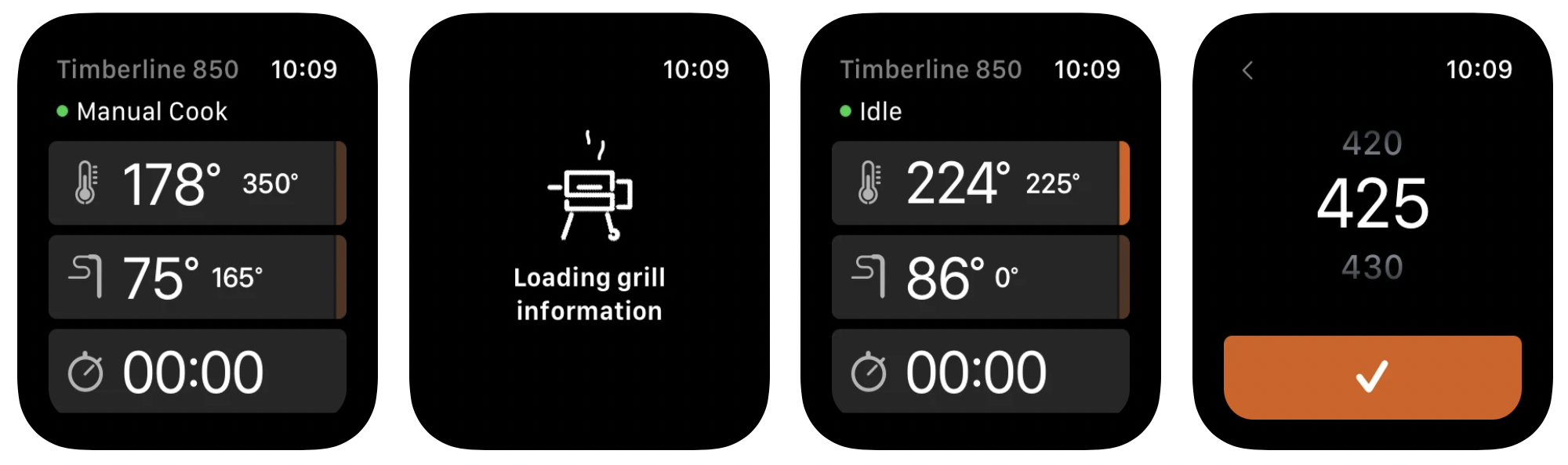 Traeger Apple Watch app, full grill control