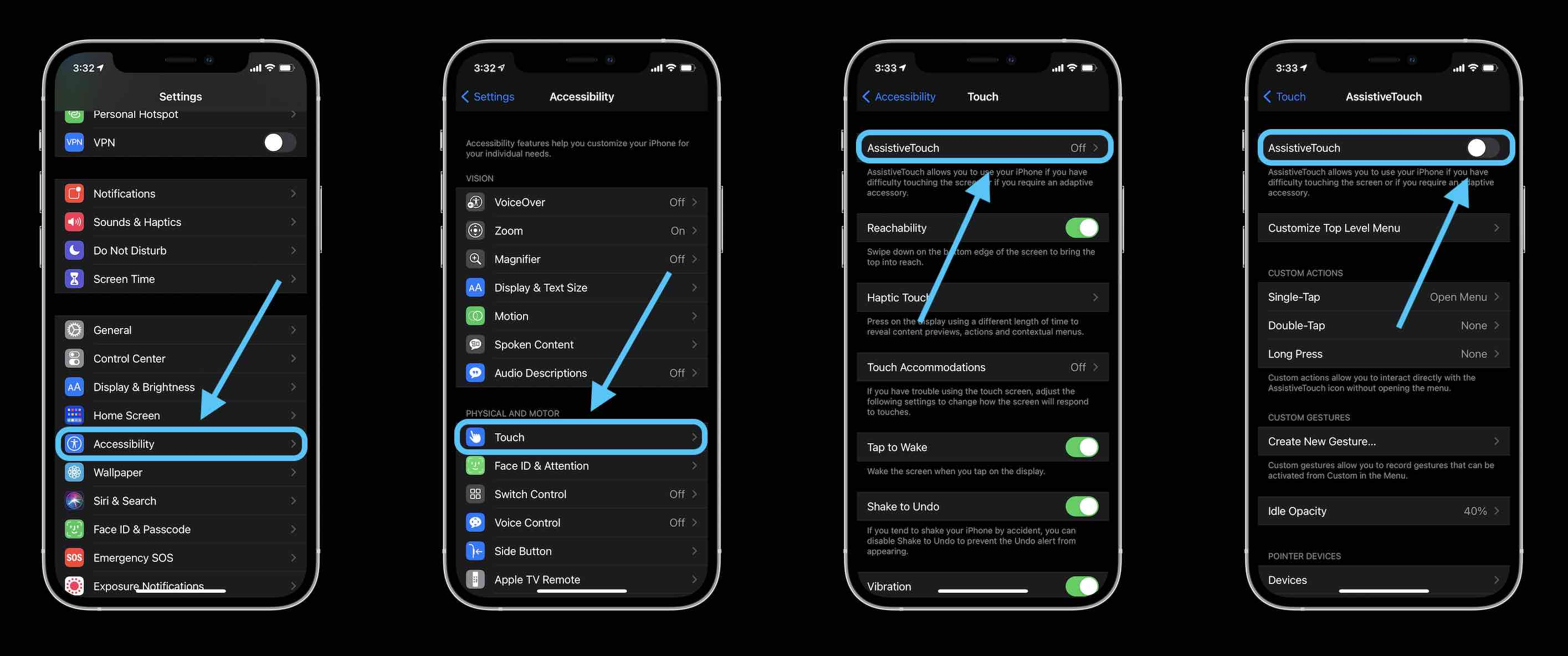 How to turn off iPhone without button walkthrough – Lock Screen with AssistiveTouch