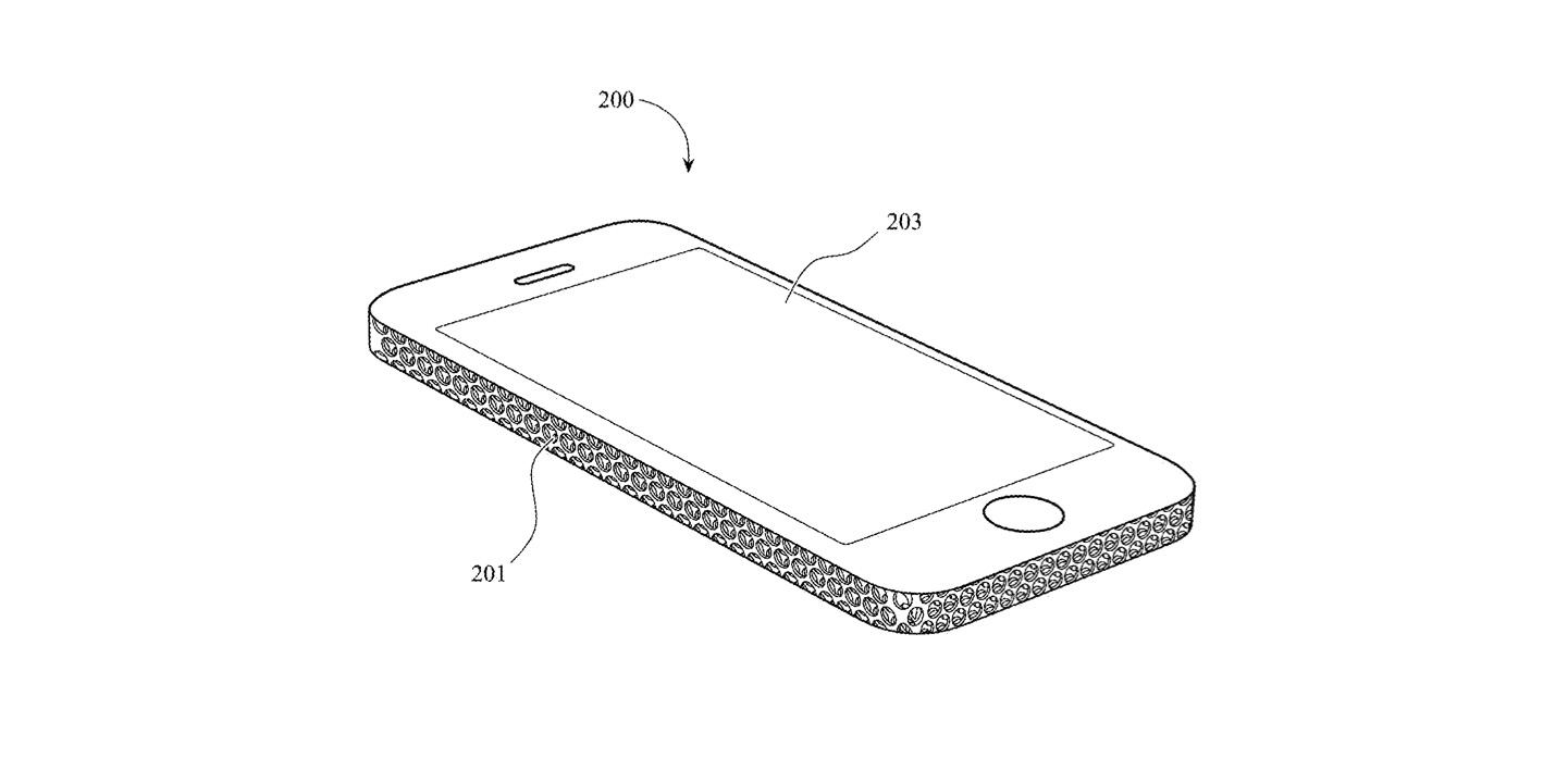 iPhone patent with Mac Pro 3D cheese grater design