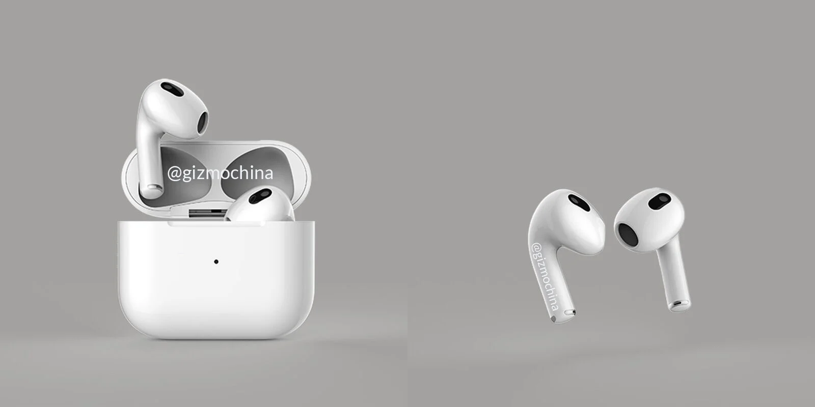 Claimed AirPods 3 renders